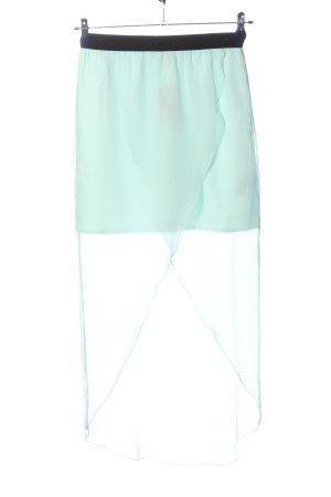 Vero Moda Asymetryczna spódniczka turkusowy Elegancki
