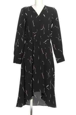 Vero Moda Aware Blusenkleid schwarz-creme Allover-Druck Elegant