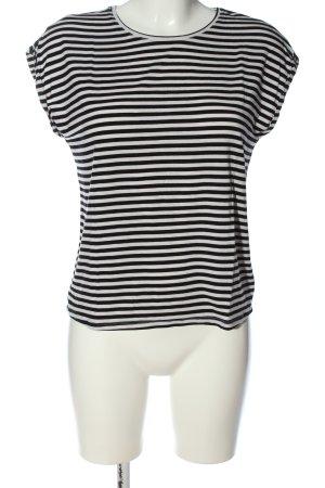 Vero Moda Aware Gestreept shirt zwart-wit gestreept patroon casual uitstraling