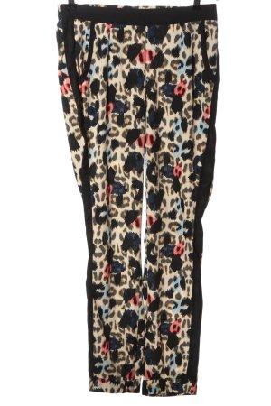 Vero Moda Stoffhose creme-schwarz abstraktes Muster Casual-Look