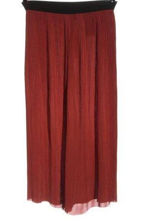 Vero Moda Baggy broek rood-zwart casual uitstraling