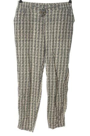 Vero Moda Baggy Pants creme-schwarz Allover-Druck Casual-Look