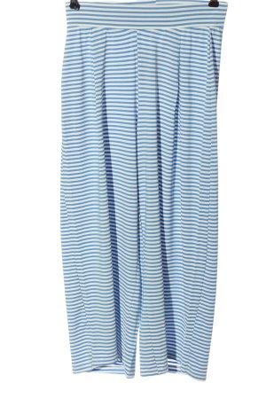 Vero Moda Baggy Pants blau-weiß Streifenmuster Casual-Look