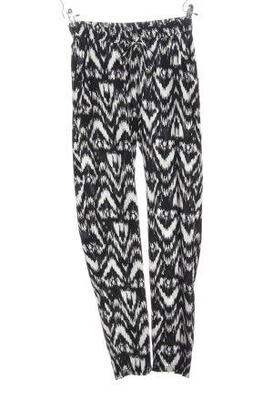 Vero Moda Baggy broek zwart-wit volledige print casual uitstraling