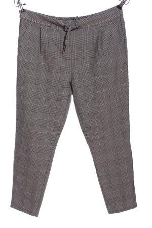 Vero Moda Baggy broek lichtgrijs-zwart geruite print zakelijke stijl