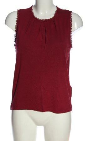 Vero Moda Basic-Shirt rot Elegant