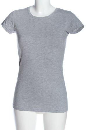Vero Moda Basic-Shirt hellgrau meliert Casual-Look