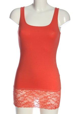 Vero Moda Basic topje licht Oranje casual uitstraling