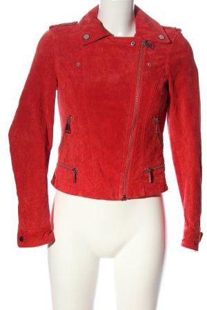Vero Moda Kurtka typu biker czerwony W stylu casual