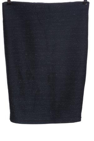 Vero Moda Bleistiftrock blau-silberfarben meliert Casual-Look