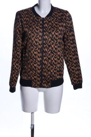 Vero Moda Blouson bronzefarben-schwarz Allover-Druck Casual-Look
