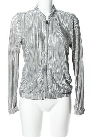 Vero Moda Blouson argento motivo a righe stile casual