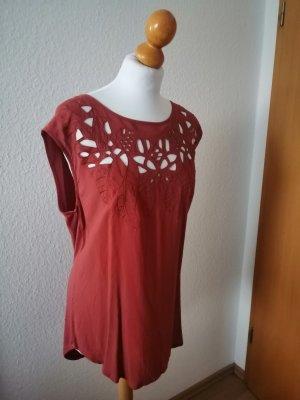 Vero Moda Bluse Boho rot Shirt Cut-Out Top L