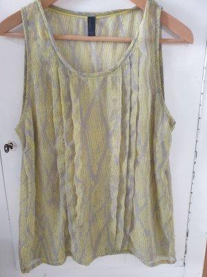 Vero Moda Blouse topje lichtgrijs-limoen geel