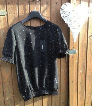 Vero Moda Bluse Gr. L/ 40, schwarz mit polkadots