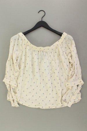 Vero Moda Bluse Größe S gepunktet 3/4 Ärmel mit Carmen-Ausschnitt creme aus Viskose