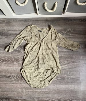 Vero Moda Bluse Hemd Tunika lang Khaki olivgrün Sommer