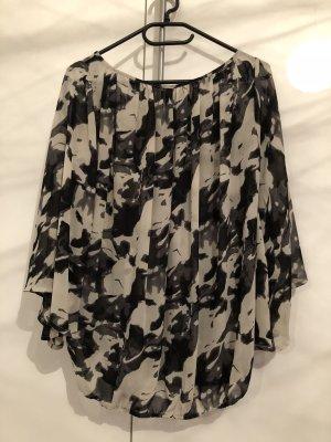 Vero Moda Bluse mit Flatterärmeln Größe S Schwarz weiß
