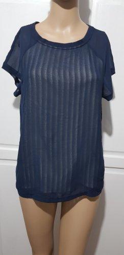 Vero Moda Blouse à manches courtes bleu foncé