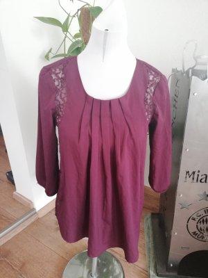 Vero Moda Bluse Spitzenbluse Brombeere Gr. S 36
