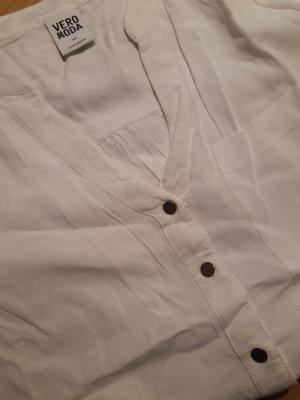 Vero Moda Bluzka ze stójką biały