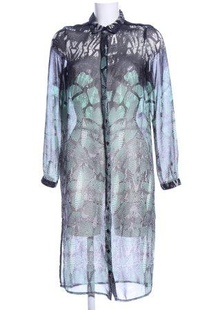 Vero Moda Blusenkleid blau-türkis abstraktes Muster Elegant
