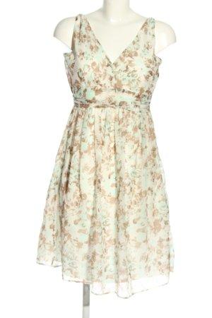 Vero Moda Blusenkleid creme-grün Allover-Druck Casual-Look