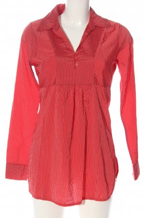 Vero Moda Blusenkleid rot-hellgrau Streifenmuster Casual-Look