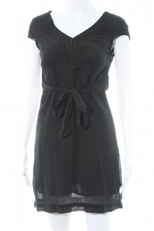 Vero Moda Blusenkleid schwarz-dunkelgrün Streifenmuster Casual-Look