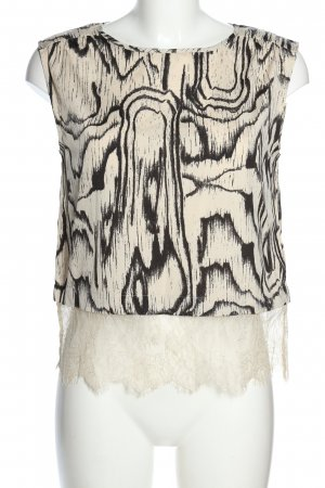 Vero Moda Blusentop wollweiß-schwarz abstraktes Muster Casual-Look
