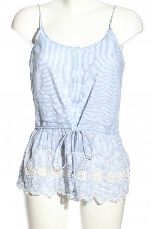 Vero Moda Blouse topje blauw-wit gestreept patroon casual uitstraling