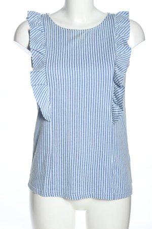 Vero Moda Blusentop blau Allover-Druck Casual-Look