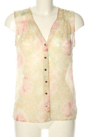 Vero Moda Blouse topje sleutelbloem-roze abstract patroon casual uitstraling