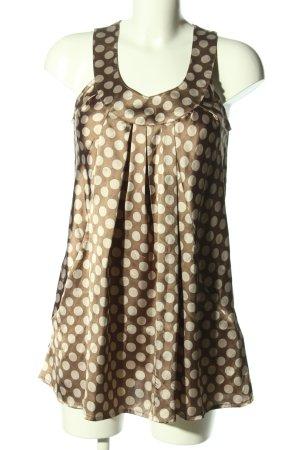 Vero Moda Blouse topje bruin-wolwit gestippeld patroon elegant