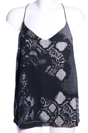 Vero Moda Blouse Top black-white animal pattern elegant