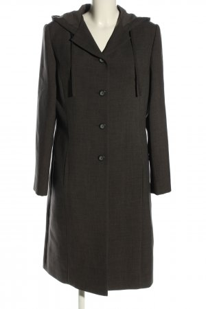 Vero Moda bodenlanger Mantel schwarz Webmuster Casual-Look