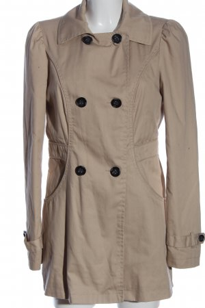 Vero Moda bodenlanger Mantel wollweiß Casual-Look