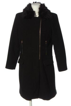 Vero Moda Długi płaszcz czarny Styl klasyczny