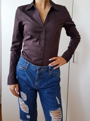 Vero Moda body Hemd Bluse Business suit braun langärmige Bluse