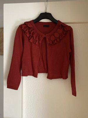 Vero Moda Boléro en tricot rouge foncé