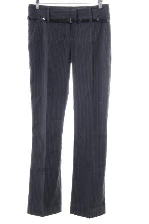 Vero Moda Bundfaltenhose blau Streifenmuster Business-Look