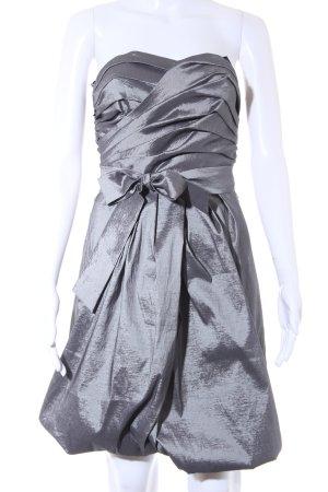 Vero Moda Robe bustier argenté style mouillé