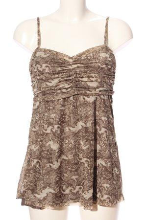 Vero Moda Camisoles brown-natural white allover print casual look