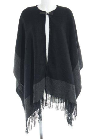 Vero Moda Cape schwarz-grau klassischer Stil
