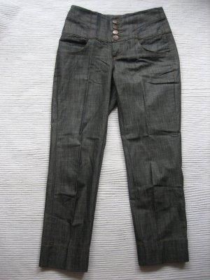 vero moda caprihose jeans gr. xs 34 brau/blau/grau neu