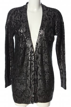 Vero Moda Cardigan schwarz-silberfarben abstraktes Muster Elegant