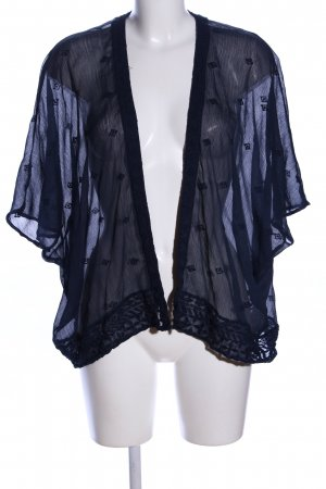 Vero Moda Cardigan blau Allover-Druck Casual-Look