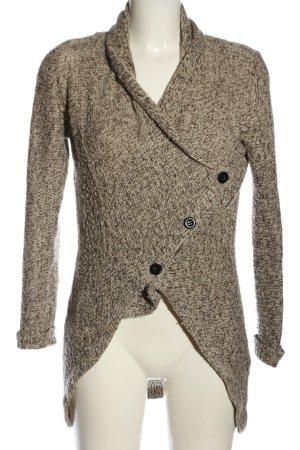 Vero Moda Kardigan brązowy-w kolorze białej wełny Melanżowy W stylu casual