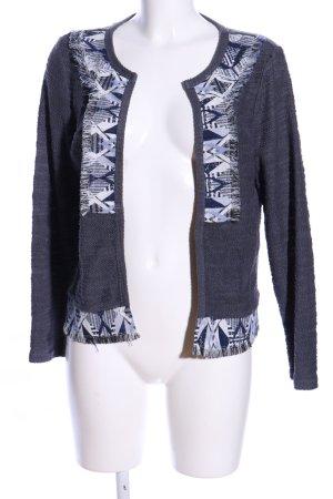 Vero Moda Cardigan blau-hellgrau grafisches Muster Casual-Look