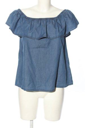 Vero Moda Carmen-Bluse blau Casual-Look